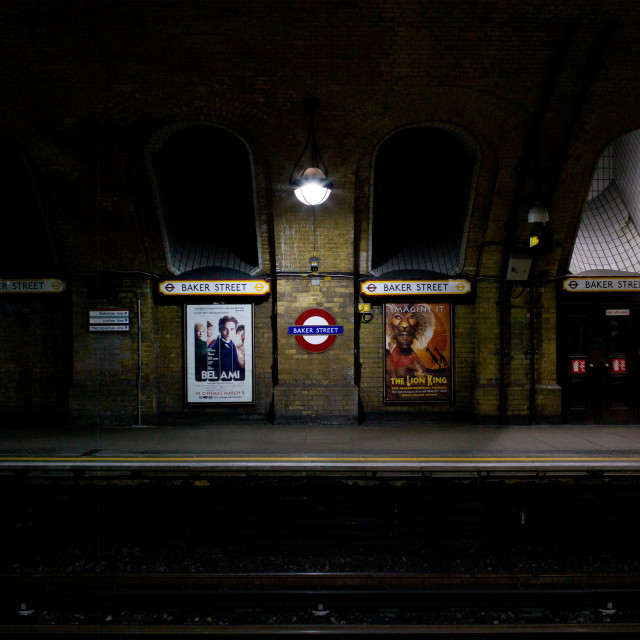 """Baker Street Tube Station"" stock image"