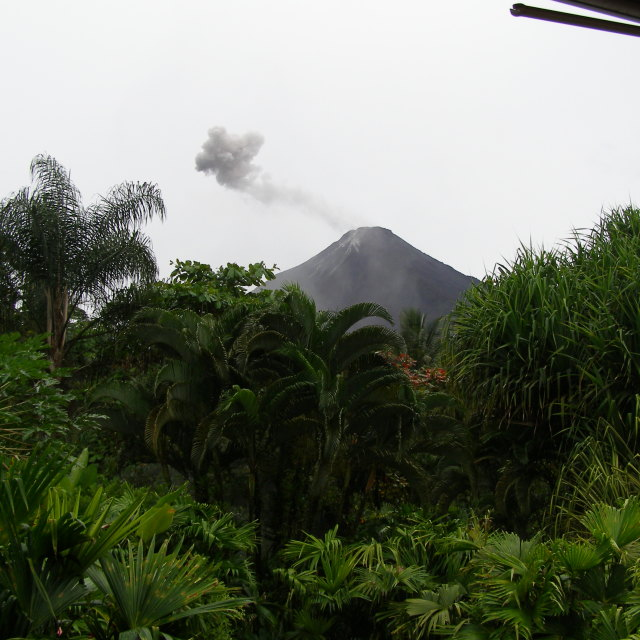 """Smoking Volcano Arenal"" stock image"