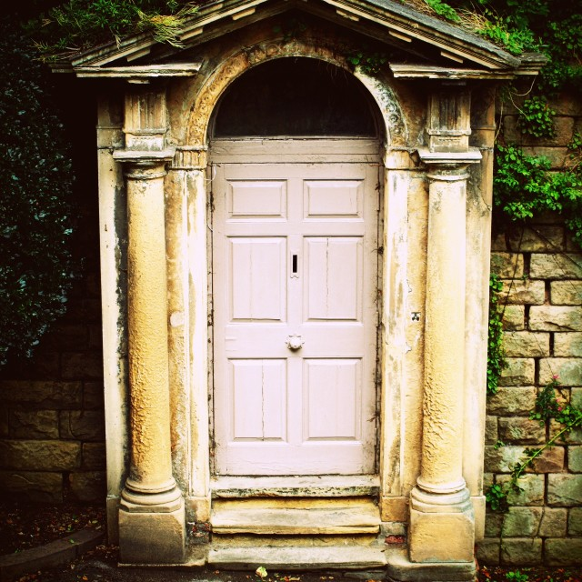 """Door to the tomb"" stock image"