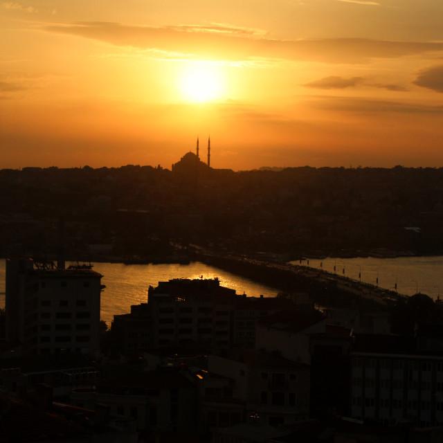 """""""Istanbul Sunset"""" stock image"""