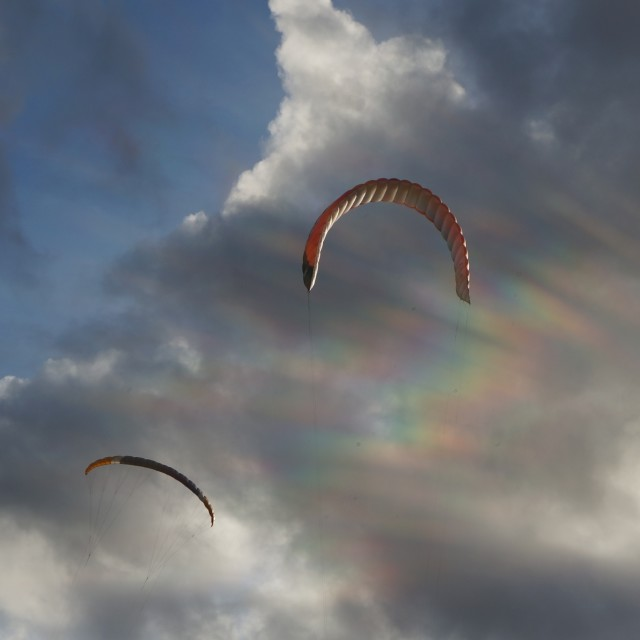 """Kites in the Sunshine"" stock image"