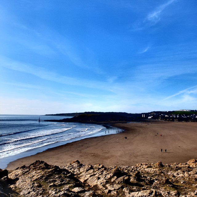 """Barry Island - in the Feb Sunshine"" stock image"