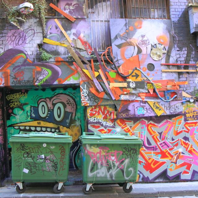 """Graffiti Street art"" stock image"
