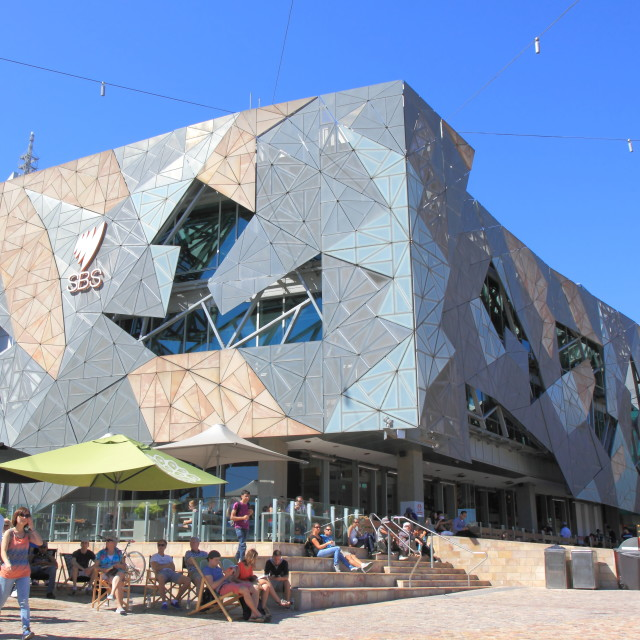 """Federation Square Melbourne"" stock image"