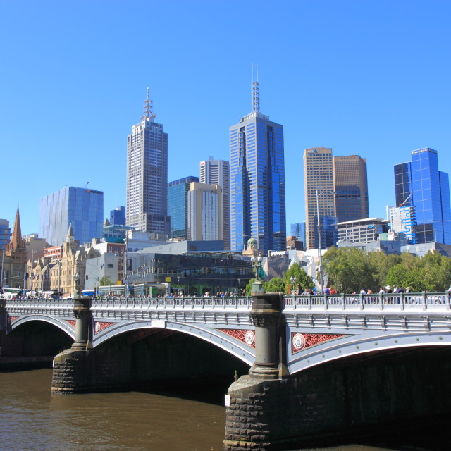 """Melbourne skyscrapers"" stock image"