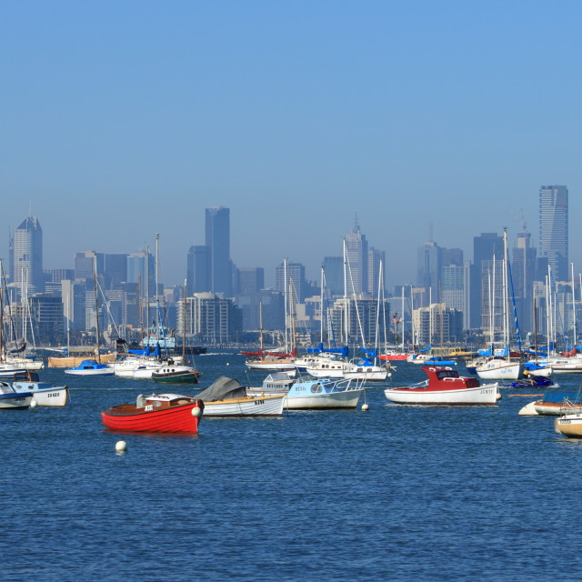 """Melbourne and habour"" stock image"