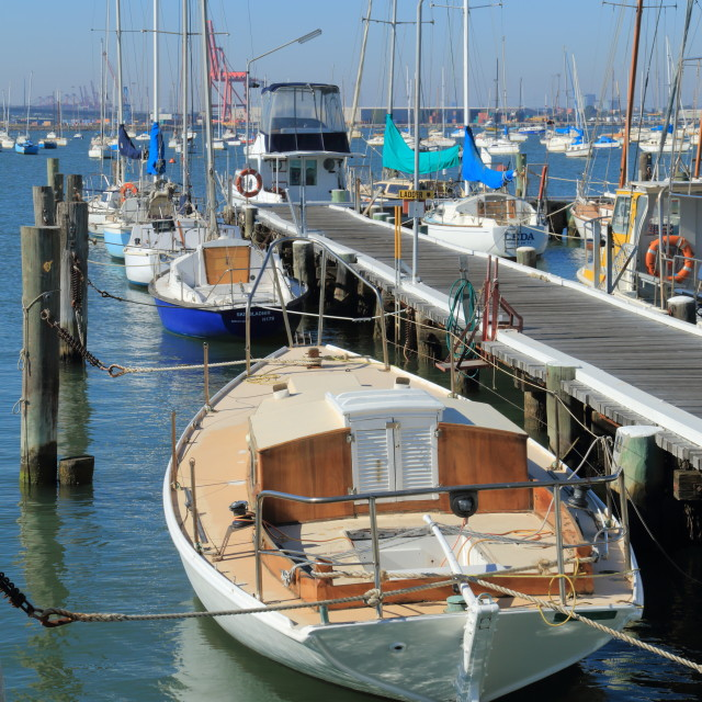 """""""Yacht habour"""" stock image"""