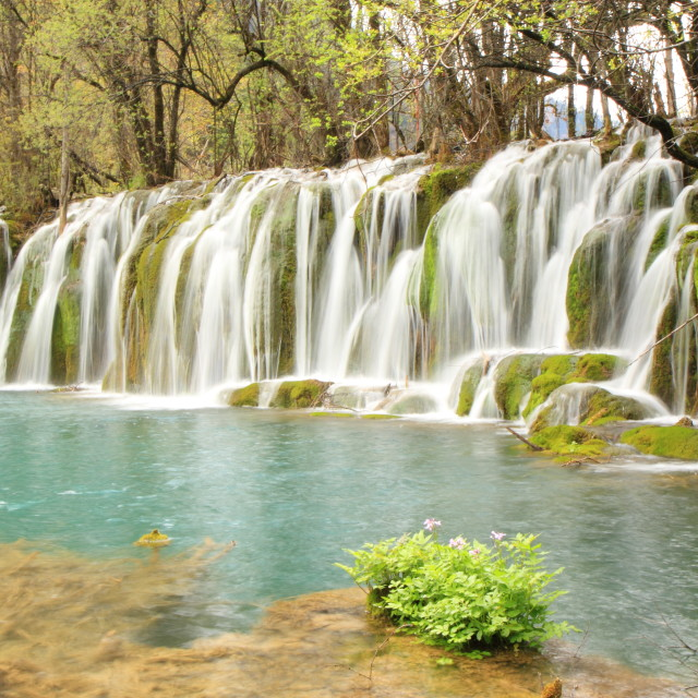 """Waterfall Jiuzhaigou"" stock image"