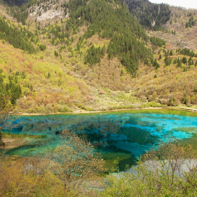 """Jiuzhaigou National Park China"" stock image"