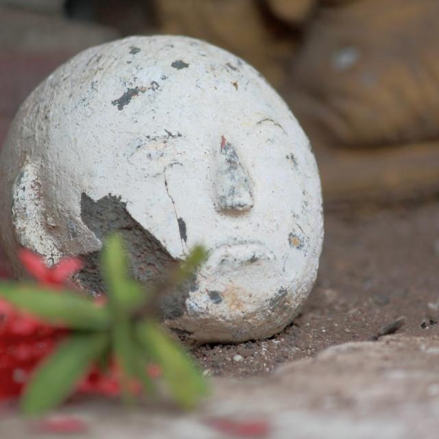 """""""Broken Buddha in Luang Prabang Laos"""" stock image"""