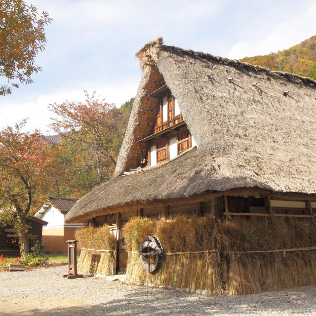 """Japanese traditional house"" stock image"