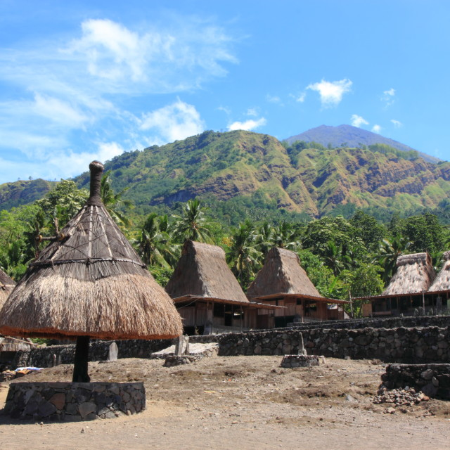 """Traditional Village Flores Indonesia"" stock image"