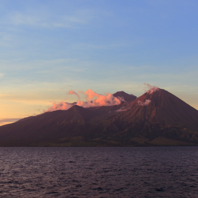 """Volcanic Mountain in Sumbawa Indonesia"" stock image"
