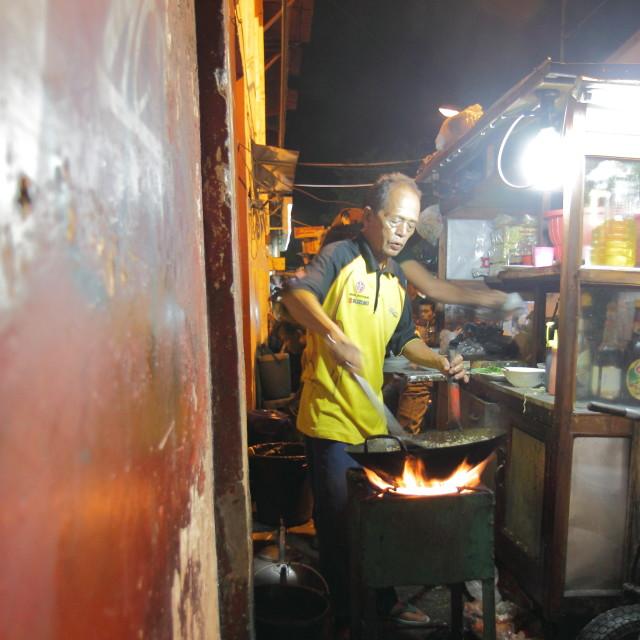 """Street restaurant in Jogyakarta"" stock image"