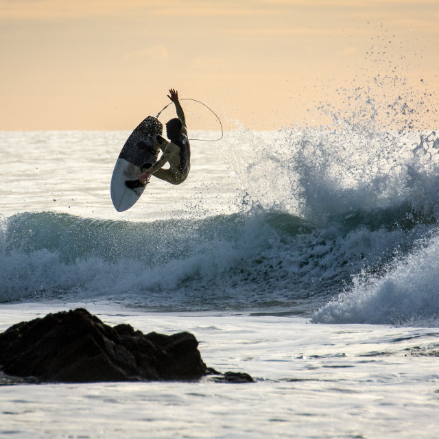 """Surfer Catching Air"" stock image"