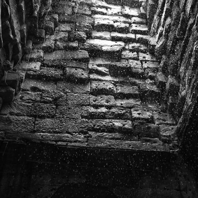 """""""Raining at Angkor"""" stock image"""