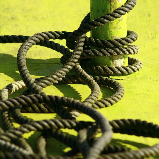 """Boat rope"" stock image"