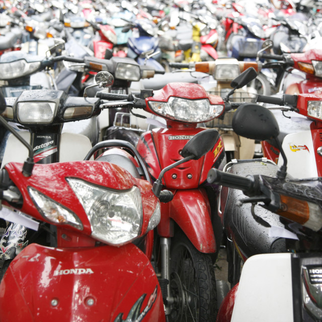 """Mopeds in Ho Chi Minh"" stock image"