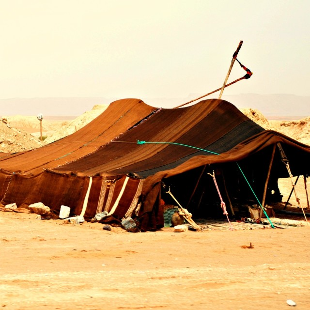"""Tent in desert"" stock image"