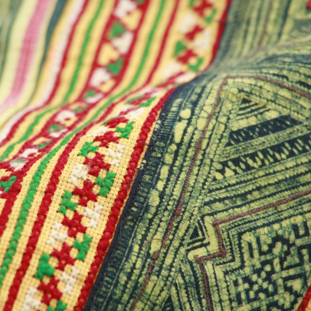 """""""Hmong Textiles"""" stock image"""