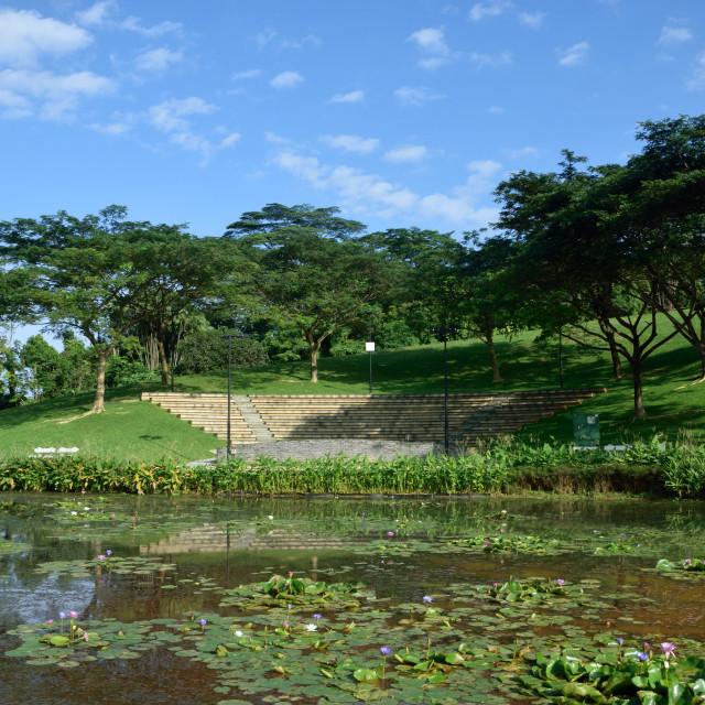 """Natures Amphitheater"" stock image"