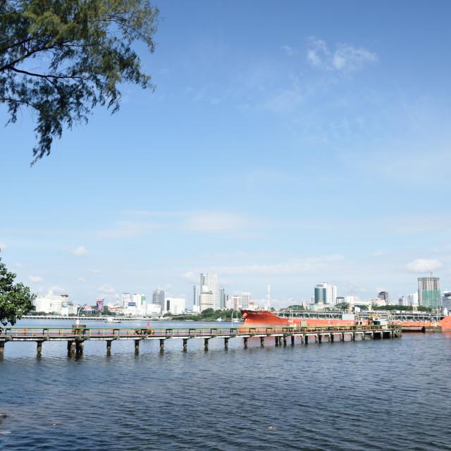 """Johor Strait"" stock image"