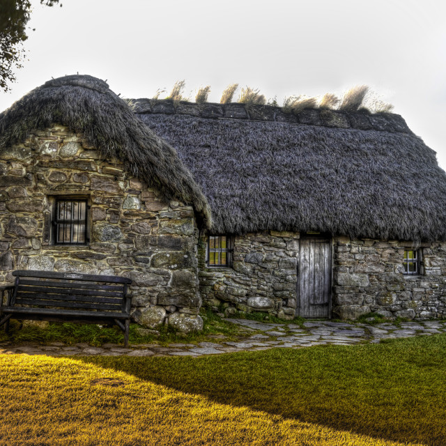 """Leanach Cottage"" stock image"
