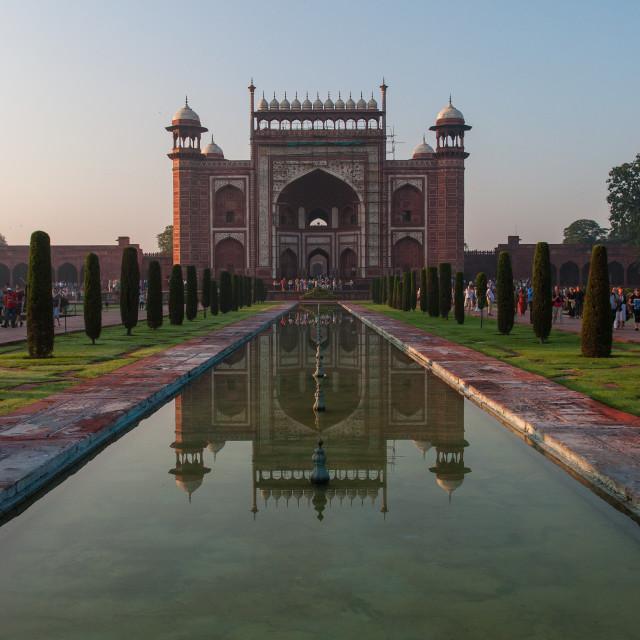 """The Gateway to the Taj."" stock image"