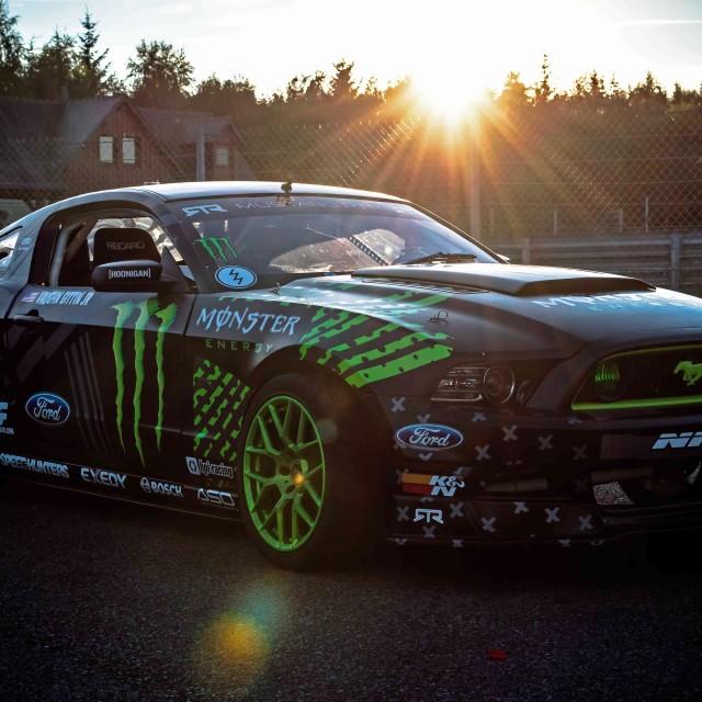 """Drift Mustang"" stock image"
