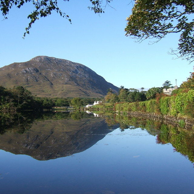 """Kylemore Lakeside Walk"" stock image"