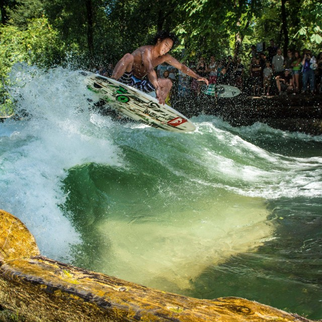 """River Surfer"" stock image"