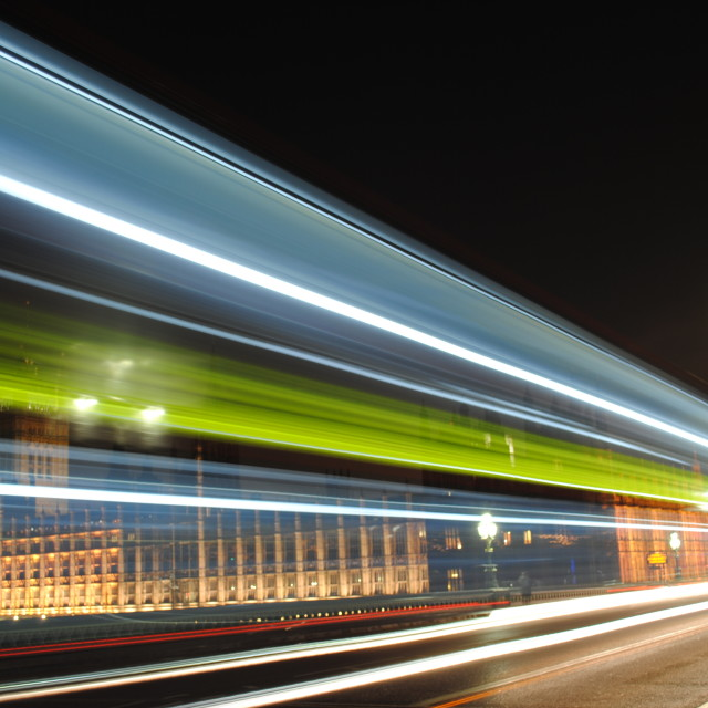 """Westminster at night"" stock image"