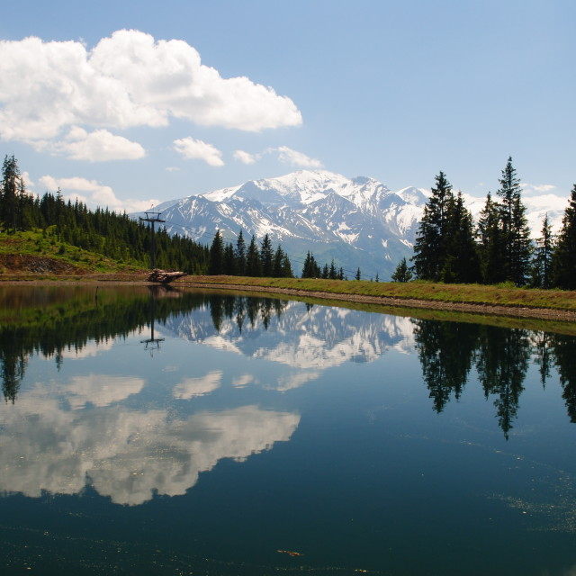 """Alpine Reflections"" stock image"