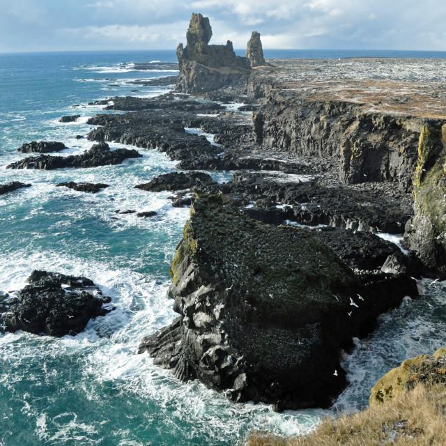 """Iceland coastline"" stock image"