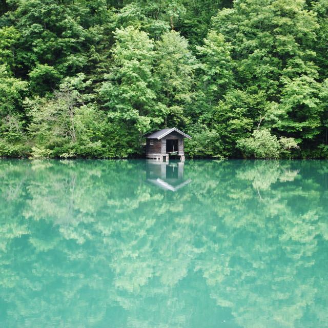 """""""Green lake"""" stock image"""