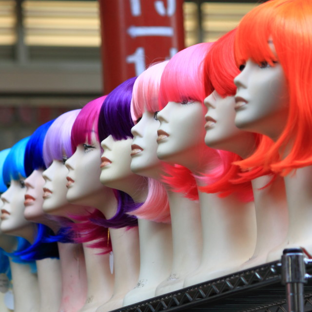 """Wig shop"" stock image"