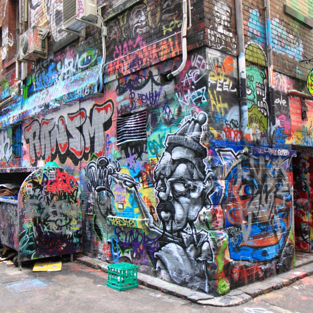 """Graffiti Street art"" stock image"