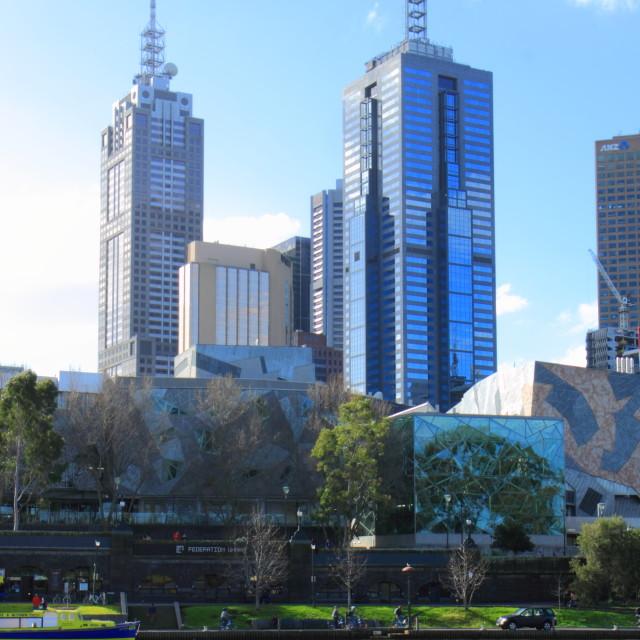 """Yarra river Melbourne life"" stock image"