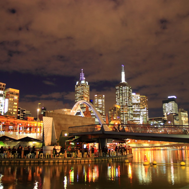 """Melbourne night"" stock image"
