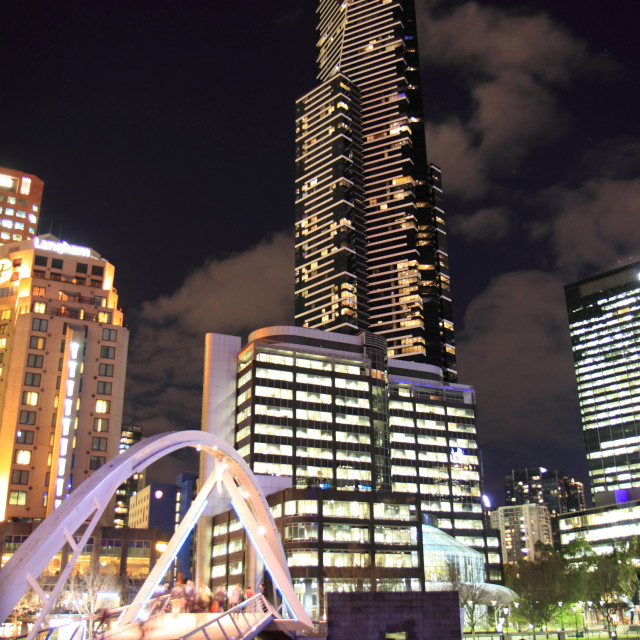 """Eureka Tower Melbourne night"" stock image"