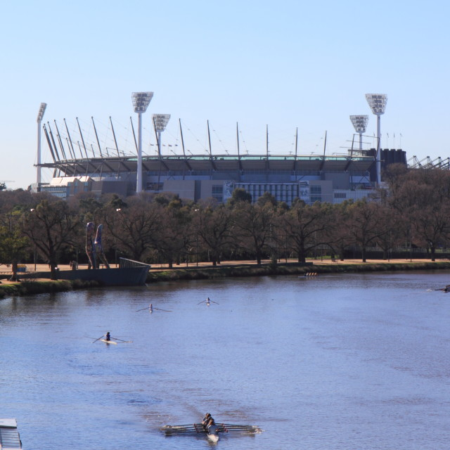 """Sports stadium Melbourne"" stock image"