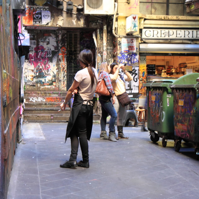 """Melbourne City life"" stock image"