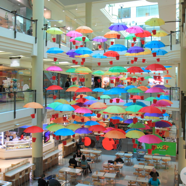 """Food court Umbrella"" stock image"