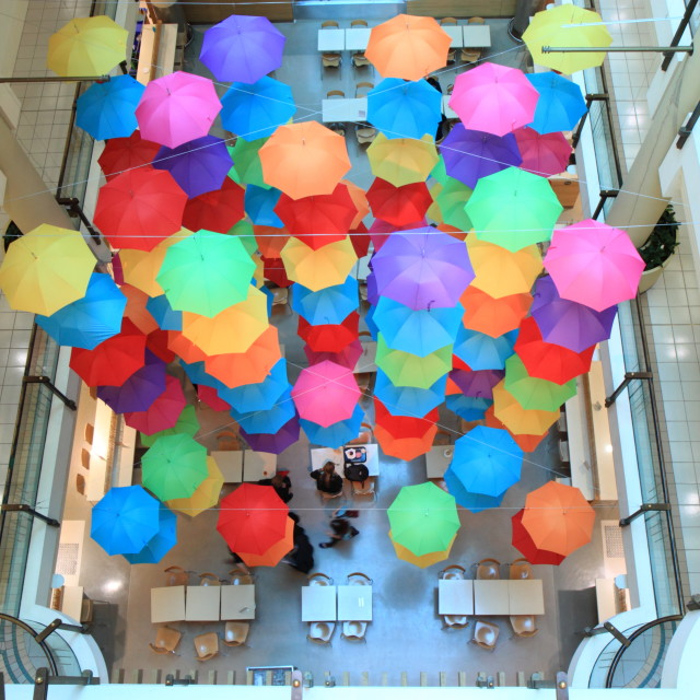 """Shopping mall Umbrella"" stock image"
