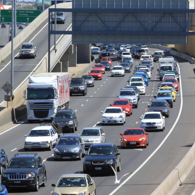 """Melbourne traffic jam"" stock image"