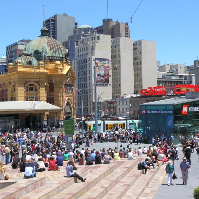 """Federation Square Melbourne Australia"" stock image"