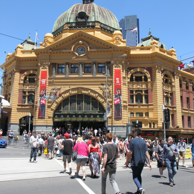 """Flinders street station"" stock image"