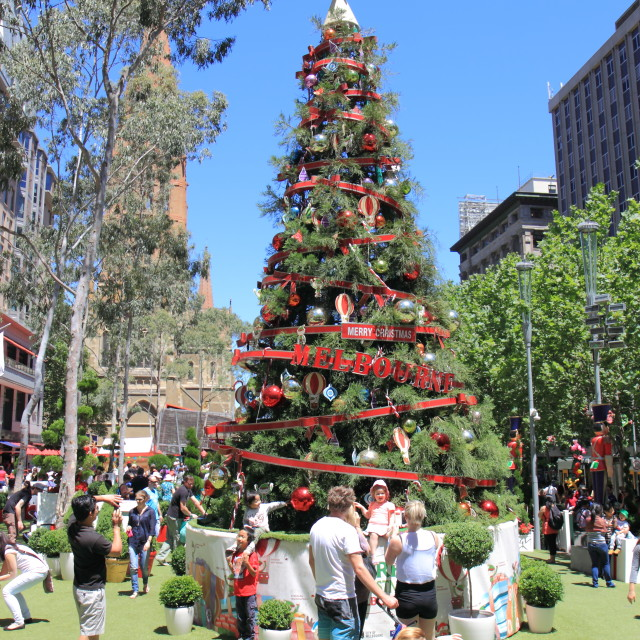 """Christmas tree Melbourne"" stock image"