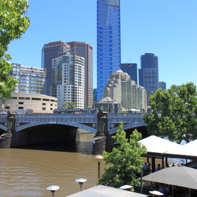 """Eureka Tower Yarra river Melbourne"" stock image"