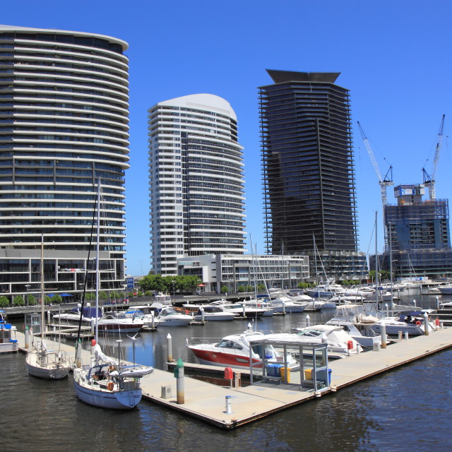 """Docklands Harbour"" stock image"